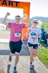 Brooke Burns, Matthew Garibaldi finish line 4
