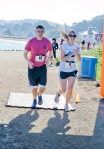 Brooke Burns, Matthew Garibaldi finish line